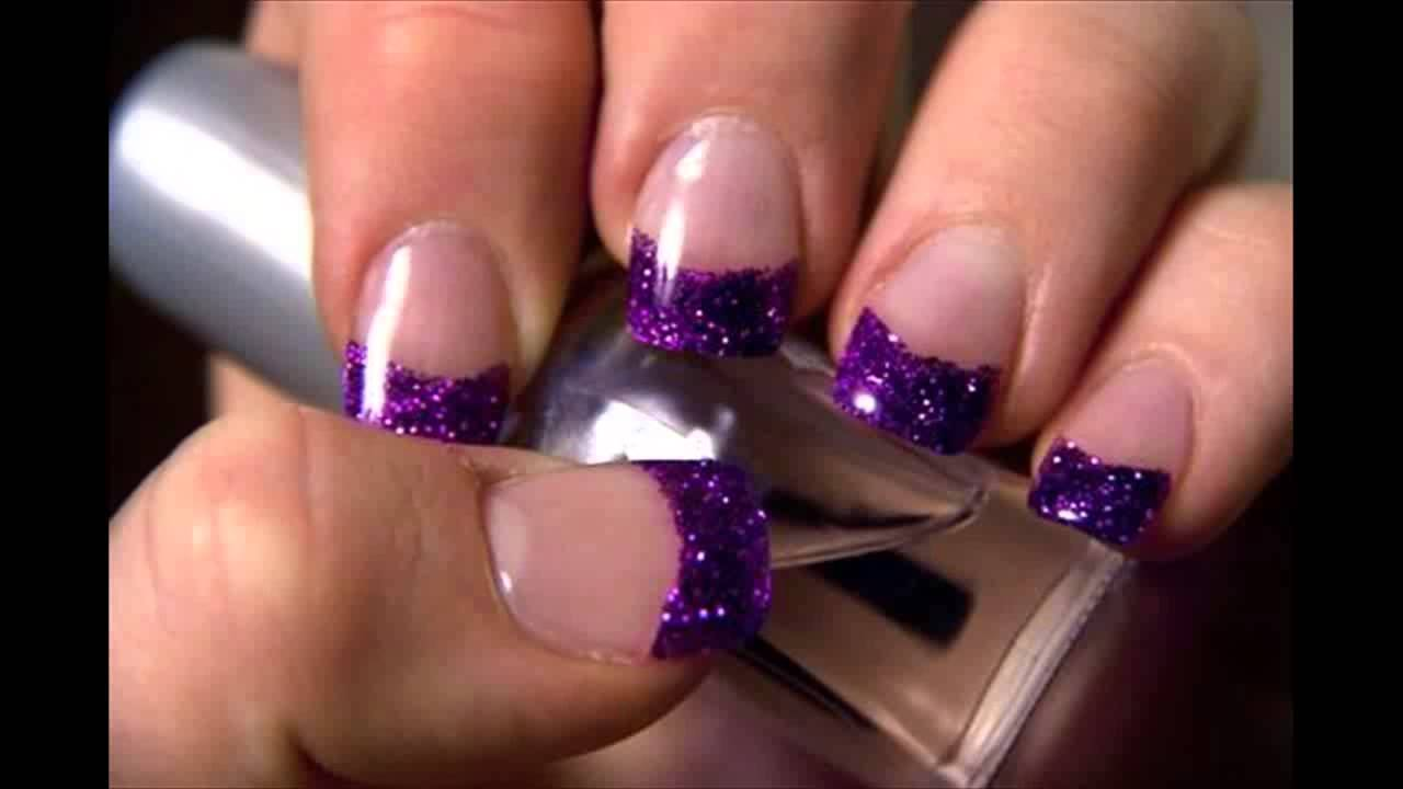 Nail Art Designs In Purple Colour Hession Hairdressing