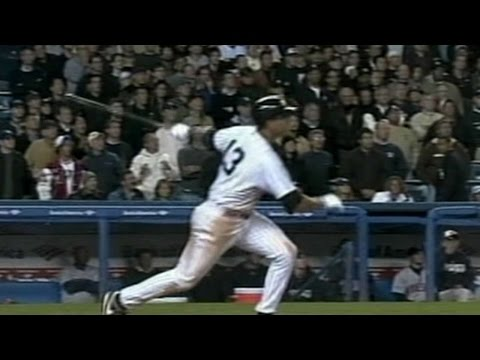 2004 ALDS Gm2: A-Rod hits double to tie game in 12th
