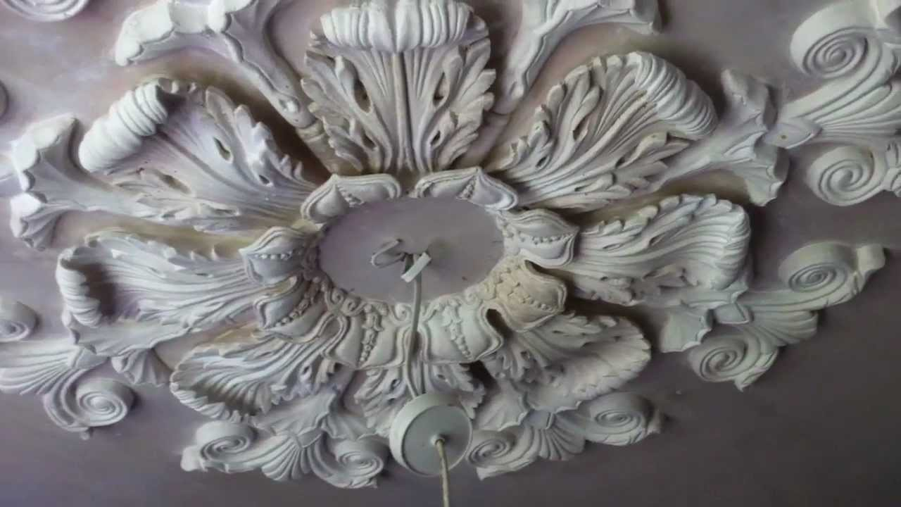Ryedale Plasterers - Casting the Whitby Ceiling Rose - YouTube