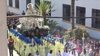Procesión Gamarra 2017. Vista aérea del trono de la Virgen del Buen Camino.
