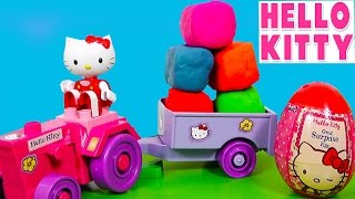 Play Doh Surprise Eggs Hello Kitty Lego Huevos Surpresa ハローキティ キティ・ホワイト