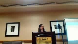 Arika Okrent speaking at the 2010 Esperanto-USA conference part 1