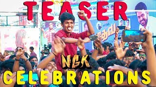 "Thala Thalapathy ரசிகர்களை போல Mass காட்டிய Suriya ரசிகர்கள்"" | NGK Teaser Celebrations!"