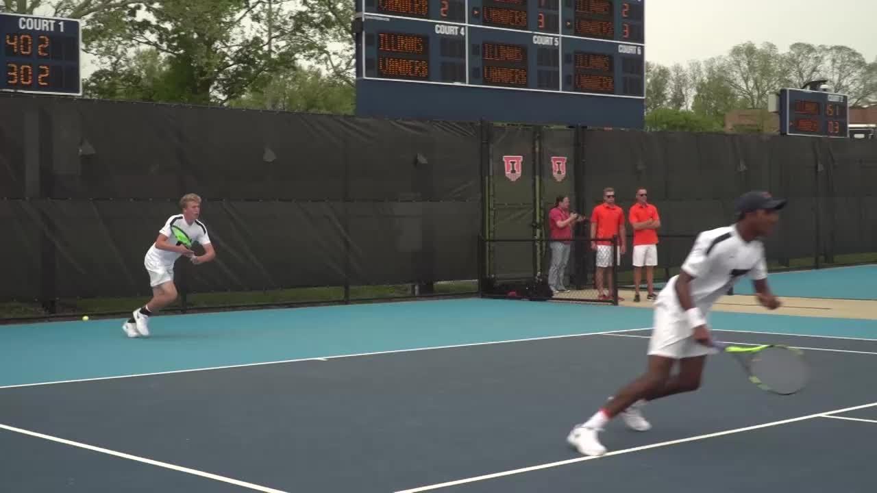 Illinois Men's Tennis Highlights vs Vanderbilt 5/13/18 ...