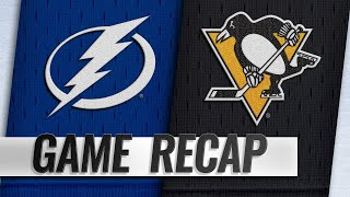 Point's hat trick lifts Lightning past Penguins