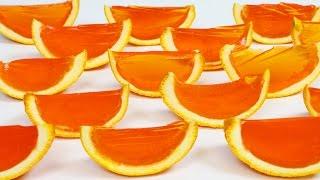 How to Make ORANGE GUMMY Jello Slices!