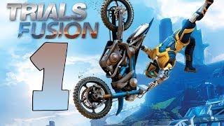 TRIALS FUSION Gameplay Walkthrough Part 1 ALL GOLD [HD 1080p PS4] [ITA Boschetto dei Principianti]