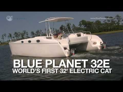 New Electric Boat - 32 foot Torqeedo Powered Electric Catamaran