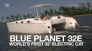New Electric Boat - 32 foot Torqeedo Powered Electric Catamaran