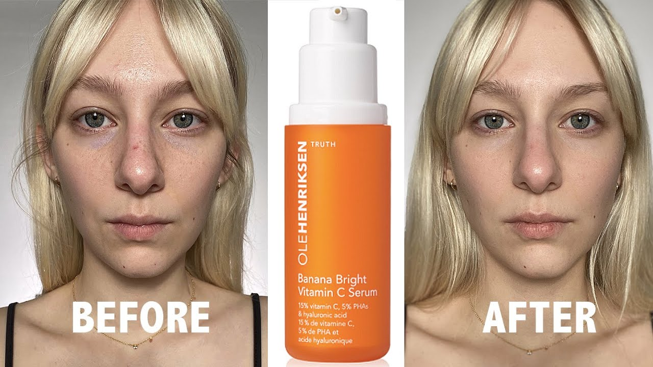 New Ole Henriksen Banana Bright Serum Before After Review