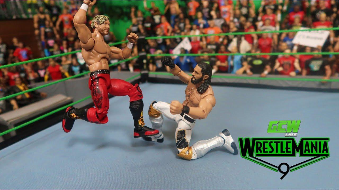 GCW WRESTLEMANIA 9 PART 7 WWE ACTION FIGURE MATCH