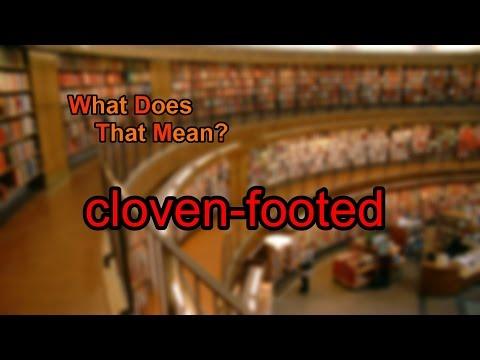 Define a cloven feet