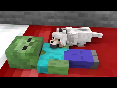 Monster School : Poor Dog and Baby Zombie - Sad Story - Minecraft Animation