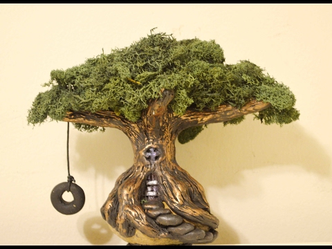 DIY Fairy Tree House With Swing In Polymer Clay