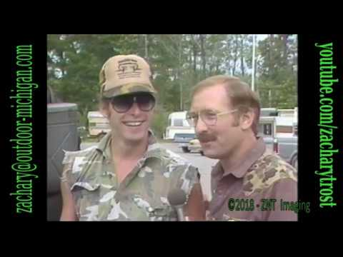 Ted Nugent & Fred Trost At The Bow Hunters Rendezvous In Houghton Lake, MI 1985