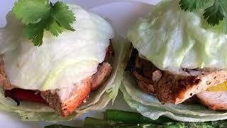 Бургеры без хлеба / No bread chicken burger
