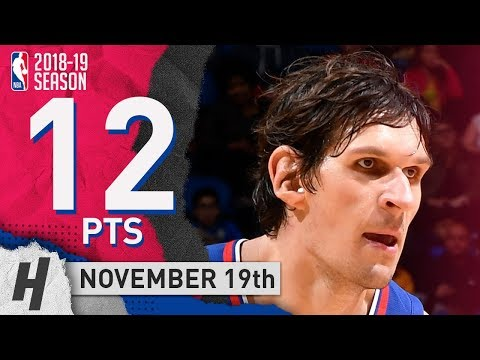 Boban Marjanovic Full Highlights Clippers vs Hawks 2018.11.19 - 12 Pts!
