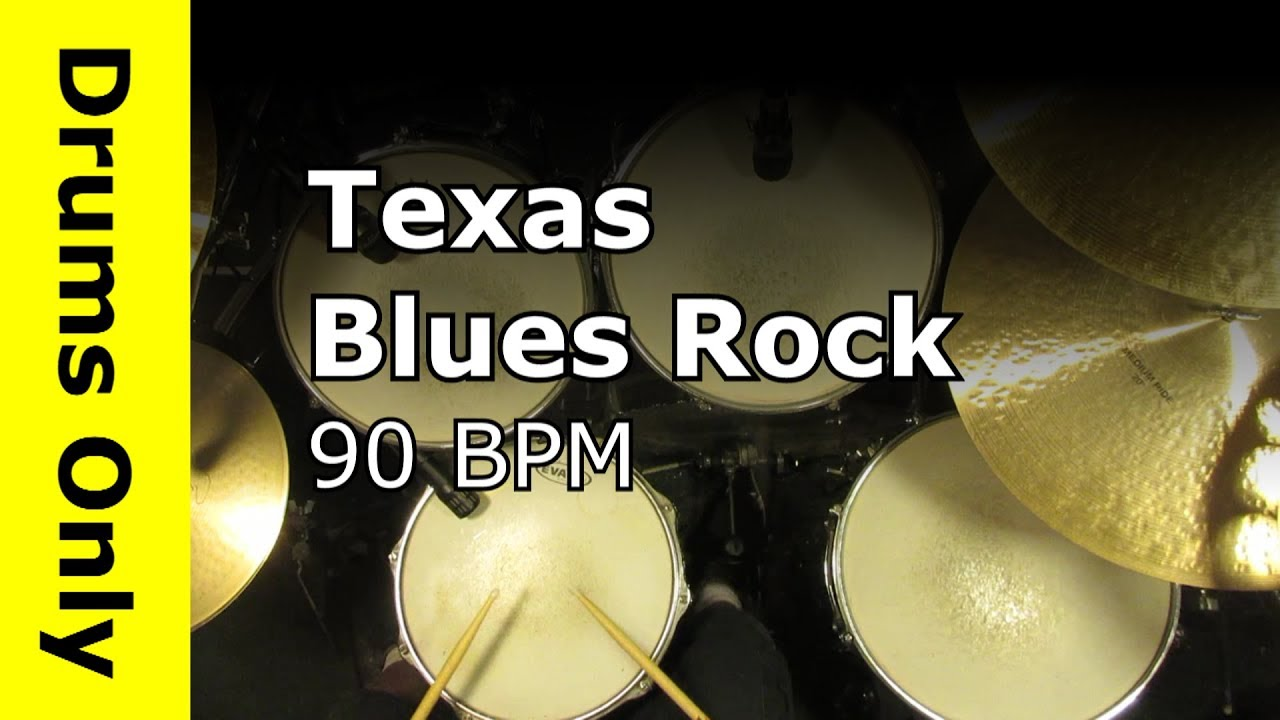 Texas Blues Rock Drum Track - 90 BPM