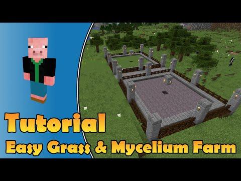Super Simple Grass And Mycelium Block Farm - Minecraft PC, Wii-U, Playstation, Xbox, PE