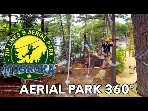 Braving a TREE TOP Obstacle Course! - 360 VIDEO - HD