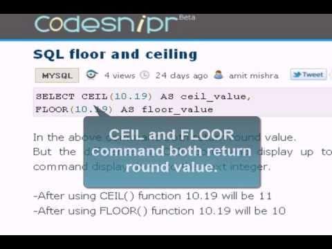 Amazing MySQL Tutorial : Floor And Ceiling