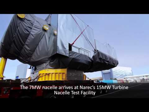 Samsung Heavy Industries 7MW nacelle arriving at Narec