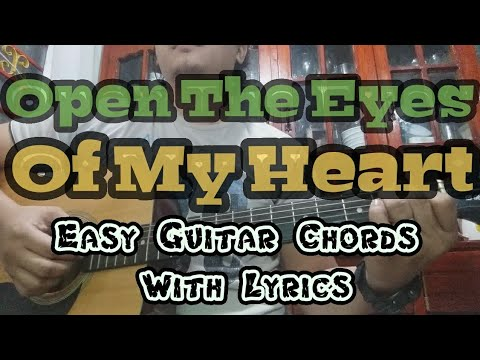 Open The Eyes Of My Heart | Easy Guitar Chords With Lyrics | Worship Through Music