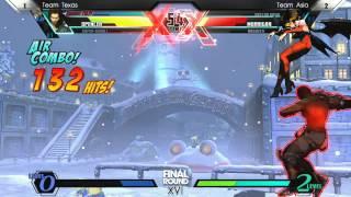 Video UMVC3 Team Texas vs Team Asia - Curleh Mustache Battle Royale - Final Round XVI download MP3, 3GP, MP4, WEBM, AVI, FLV Juli 2018