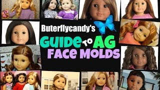 Buterflycandy's Guide To American Girl Face Molds | Classic Jess Josefina Kaya And More