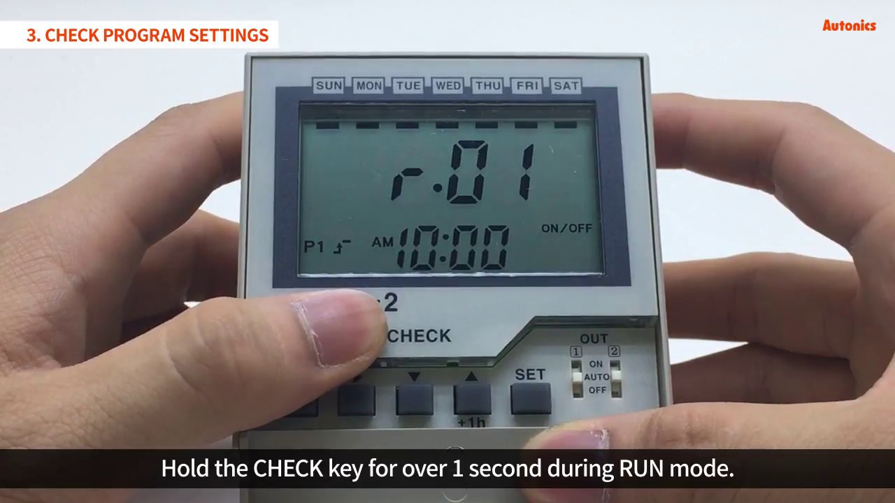 Autonics tutorial weekly timer onoff operation youtube autonics tutorial weekly timer onoff operation malvernweather Image collections