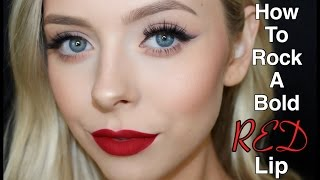 How To Rock A Bold Red Lip | Cosmobyhaley
