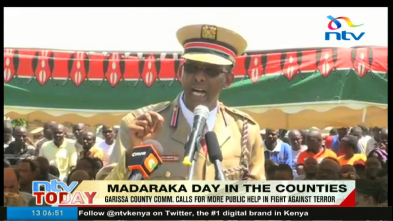 Garissa county commissioner calls for more public help in fight against terror