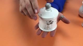 Видеообзор сахарницы керамической «Снеговик и Олень»