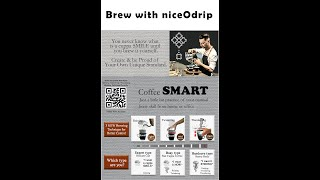 Brew with niceodrip. Raining, Twistering and Thundering Brewing Technique.