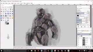 Cyborg speed drawing April 17 2016