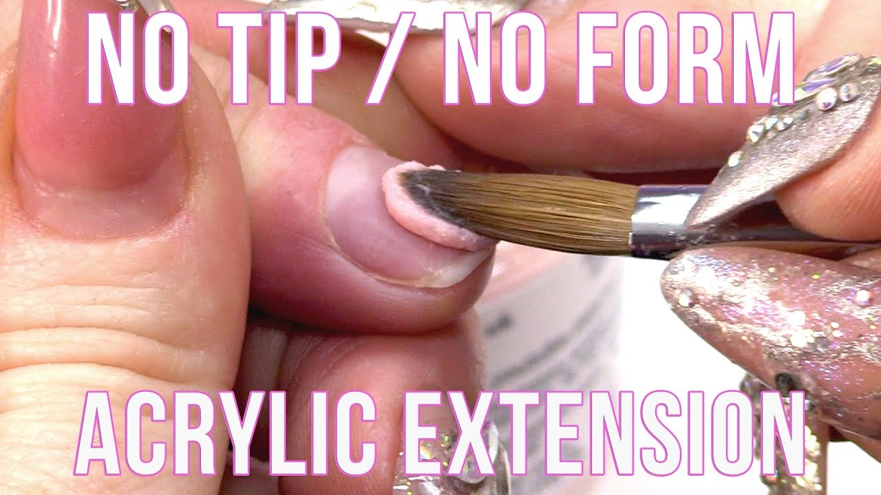 HOW TO EXTEND THE NAIL BED WITHOUT A FORM OR A TIP , NAIL HACK