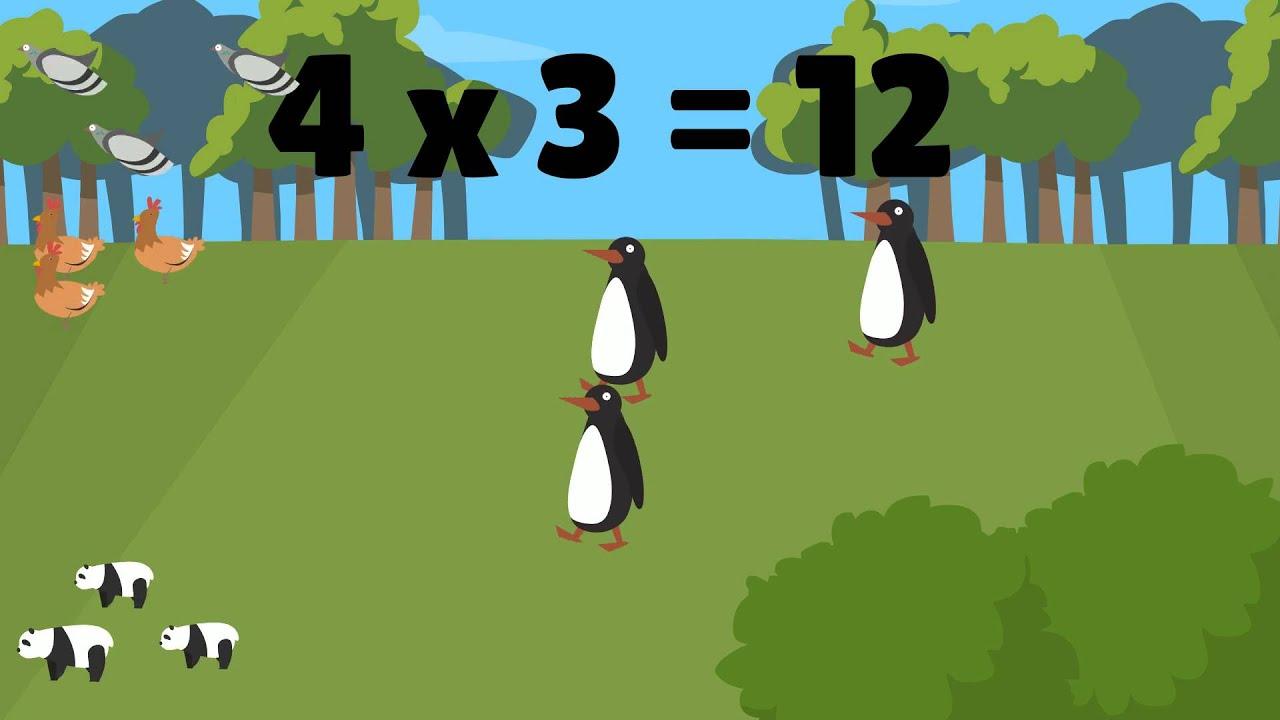 tabellen over 3 formere :  Tæl dyrene
