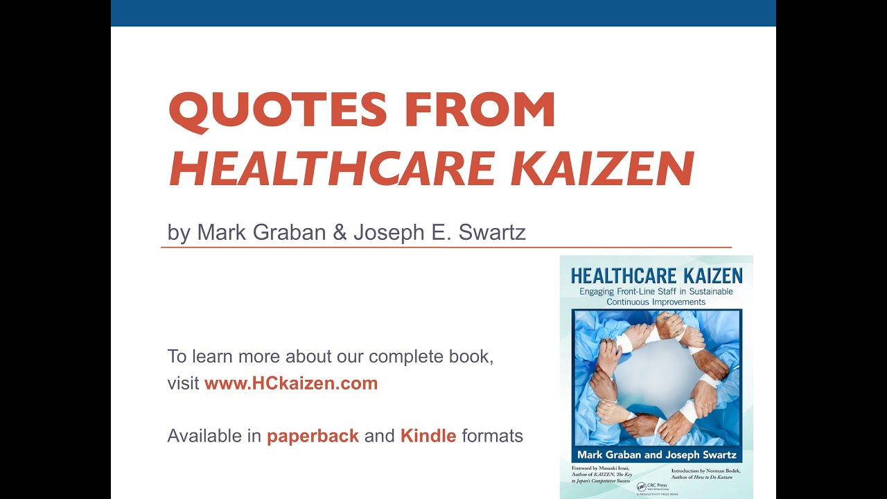 "Healthcare Quotes Healthcare Kaizen"" Quotes  Continuous Improvement Change & Lean"
