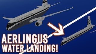 ROBLOX | WATER LANDING! | AerLingus Retro Flight