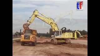 liebherr r 964b cat d6r xl volvo a30d erweiterung holzwerk germany 17 08 2006
