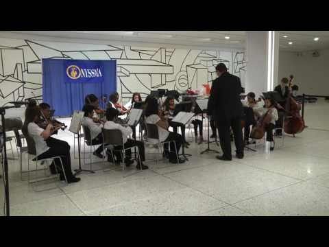 The Covert Avenue School String Orchestra Performs in the Empire State Plaza Concourse