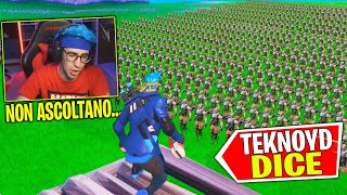 TEKNOYD DICE con 100 PERSONE su FORTNITE (200% INCREDIBILE !) w/@DragonDogma