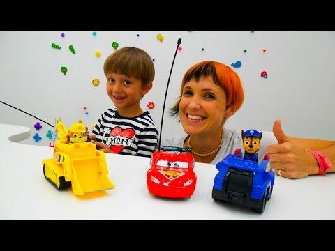 Видео про игрушки. Щенячий патруль и машинки