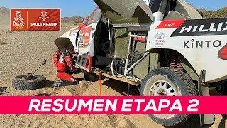 Alonso arranca una rueda, pero sigue en carrera | Resumen Etapa 2 Dakar 2020