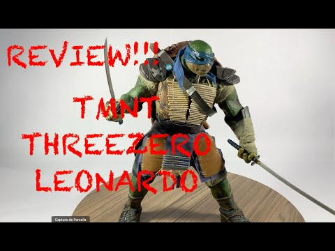 REVIEW!! Teenage Mutan Ninja Turtles, LEONARDO ThreeZero en español LATINO!!!