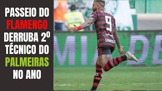 Flamengo, implacável, vence Palmeiras de novo, faz 6 a 1 em 2019 e, depois de Felipão, derruba Mano