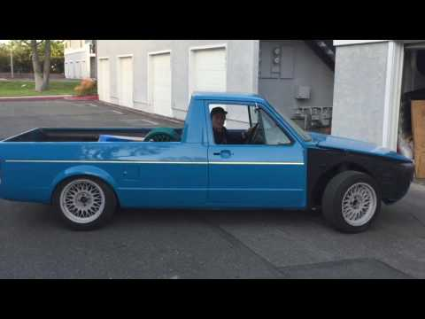 SLAMMED 1980 VW RABBIT PICKUP TRUCK FIRST DRIVE