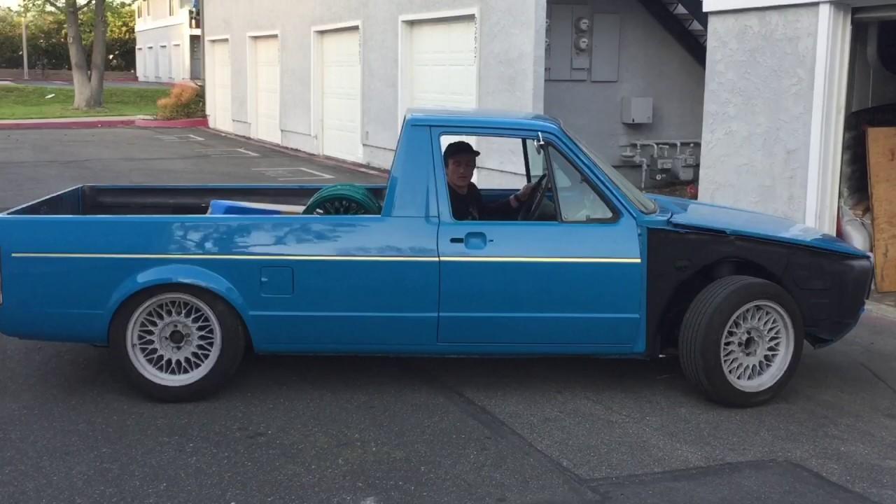 slammed  vw rabbit pickup truck  drive youtube