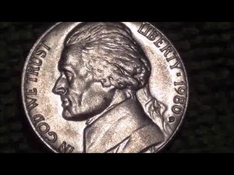 coin roll hunting find 1980 d nickel closer look in 1080p. Black Bedroom Furniture Sets. Home Design Ideas