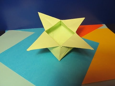 Оригами из бумаги для начинающих коробочка схема